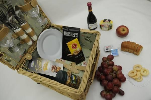 Cesta de piquenique para mães do Frutacor (Bruno Peres/CB/D.A Press)