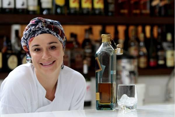 Alayde Maia apresenta menu que combina com uísque  ( Ana Rayssa/Esp. CB/D.A Press)