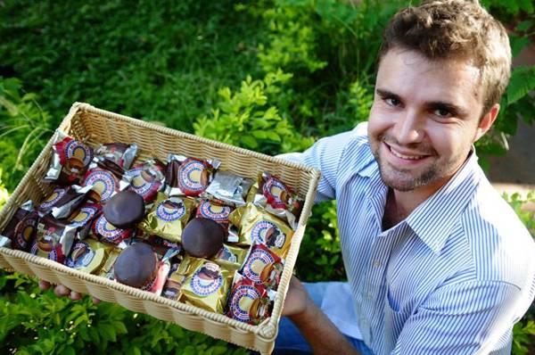 A Mr. Brownie oferece quatro sabores do doce americano ( Bruno Peres/CB/D.A Press)
