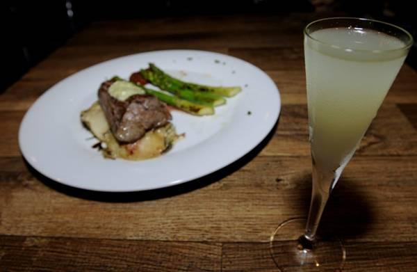 Filé-mignon com licor de limão-siciliano: combinação no Due (Carlos Moura/CB/D.A Press)