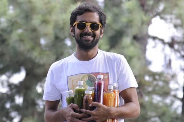 Fellipe Moura, sócio do Calango Juice, oferece para seus clientes sucos que unem o sabor à qualidade  (Carlos Moura/CB/D.A Press)
