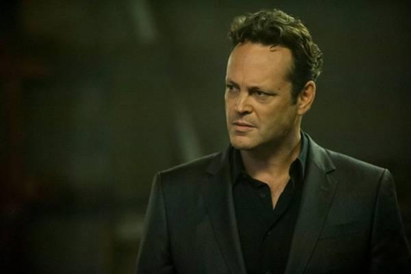 Ator Vince Vaughn, em cena da segunda temporada da série True detective (HBO/Divulgao)