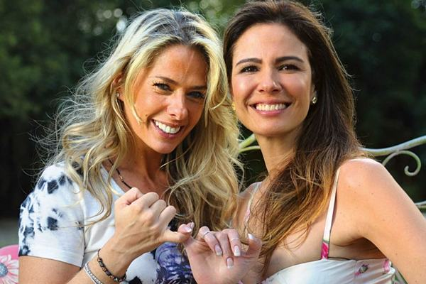 Adriane Galisteu e Luciana Gimenez: a luta pelo sofá de Hebe (Gustavo Scatena/Divulgação)