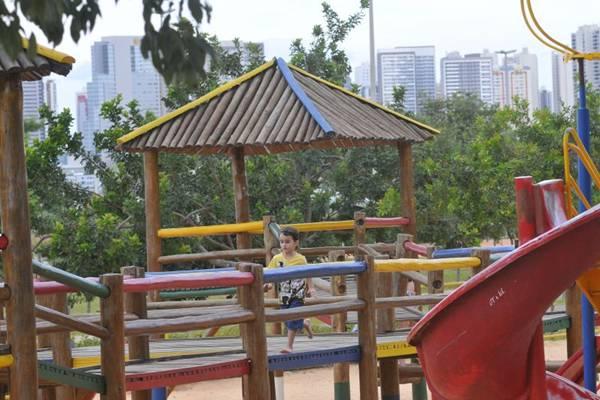 Área de lazer diverte a criançada no Taguaparque (Minervino Junior/CB/D.A Press)