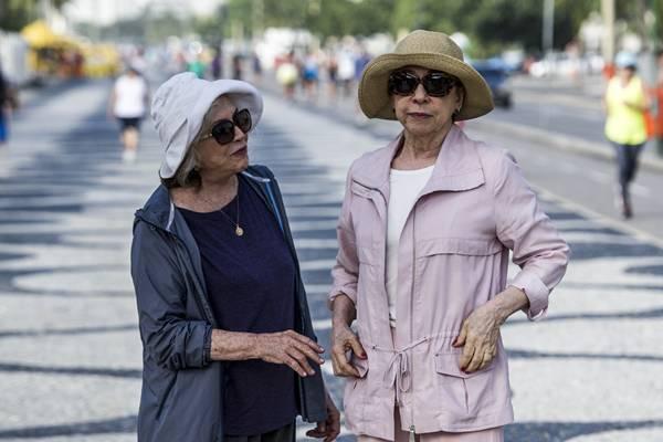 Nathalia Timberg e Fernanda Montenegro causaram polêmica em Babilônia (Estevam Avellar/TV Globo)