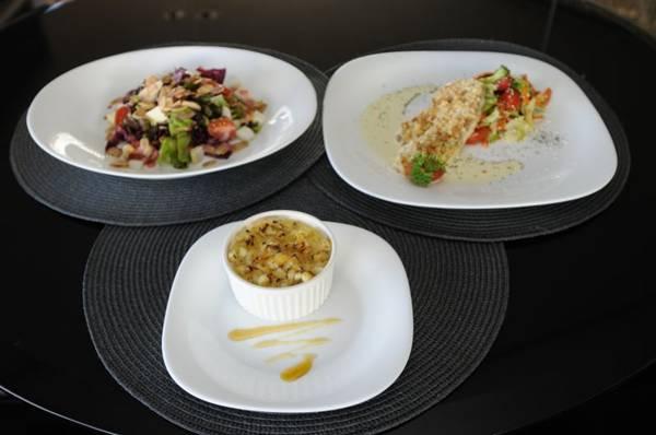 Frutas dão o toque especial ao menu servido no restaurante Gazebo (Carlos Moura/CB/D.A Press)