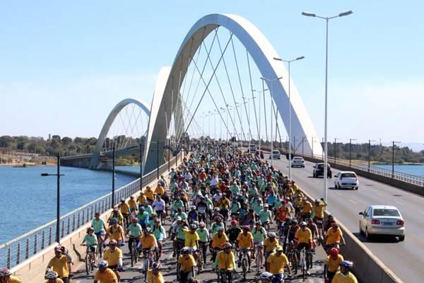 A ONG Rodas da Paz espera reunir mais de 4 mil pessoas na Esplanada dos Ministérios  (Oswaldo Reis/CB/D.A Press)