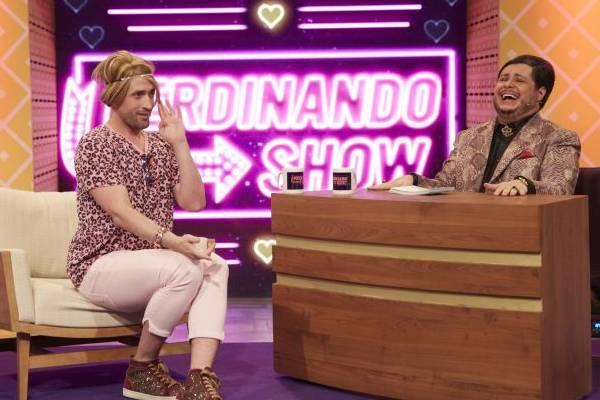 Bicha Bichérrima, vivida por Paulo Gustavo, é uma das primeiras convidadas do Ferdinando show (: Juliana Coutinho/Divulgação)