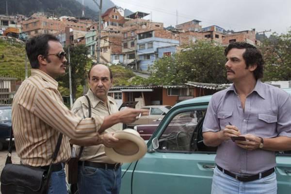 Cena da primeira temporada da série Narcos, da Netflix, com Wagner Moura e direção de José Padilha (Daniel Daza/Divulgação)