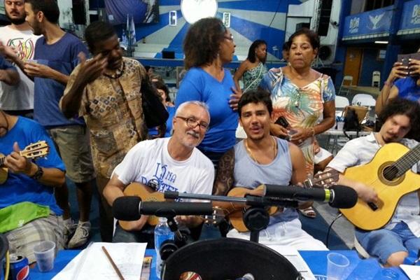 Sambistas da Portela Beto Fininho e Rafael Viana (Arquivo Pessoal/Divulgação)