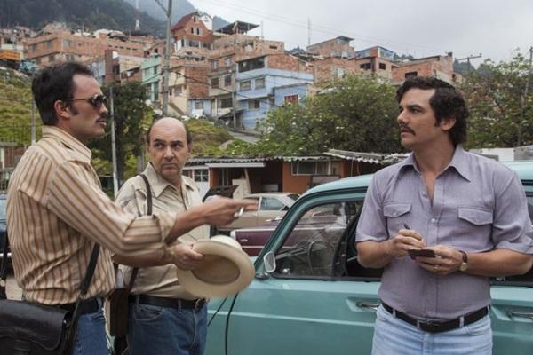 Cena da 1ªtemporada da série Narcos, série da Netflix, com direção de José Padilha (Daniel Daza/Divulgação)