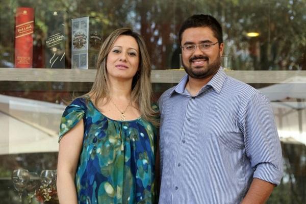 Suzana Estela Rocha e Filipe Caetano, donos do Restaurante Legrat Bistrô.  (Rodrigo Nunes/Esp.CB/D.A Press)