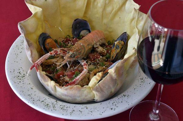 Risoto de frutos do mar do Cinque Terre: toque de gergelim e gengibre diferencia o preparo de Milton Aguilar (Marcelo Ferreira/CB/D.A Press)