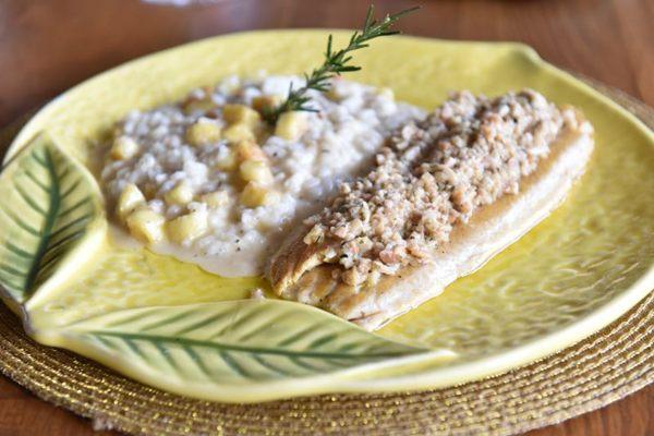 A delicadeza da truta casa bem com a da amêndoa em prato do Limoncello (Zuleika de Souza/CB/D.A Press)