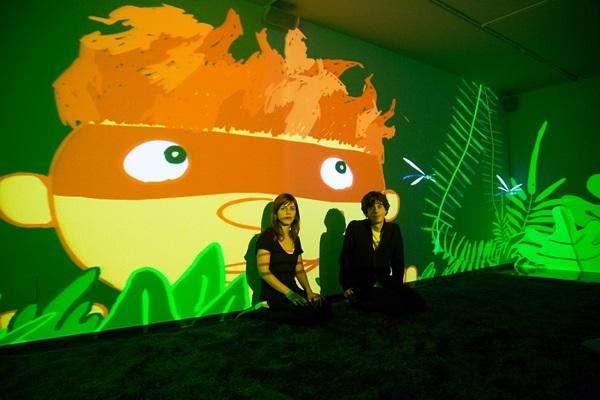 Na Caixa Cultural, a exposição 'Folclore digital' aproxima as crianças das lendas brasileiras  (Juan Herrera Prado/Divulgação)