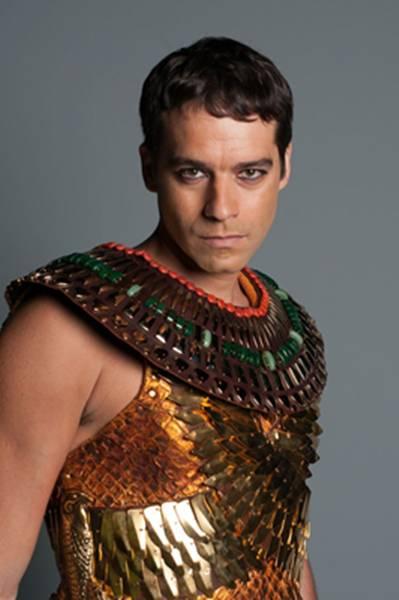 Guilherme Winter como Moisés da novela Dez Mandamentos (TV Record/Divulgaçã)