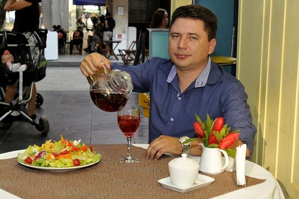 Kleber Sampaio proprietário da Vincent Casa de Chá (Antonio Cunha/CB/D.A Press)