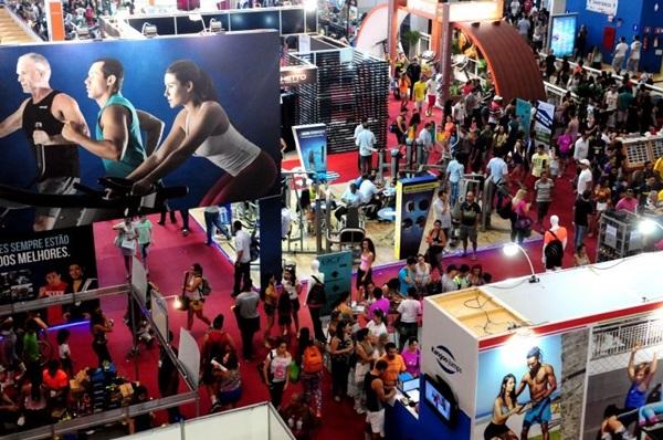 A convenção é um grande palco para negócios na área fitness (Bruno Peres/CB/D.A Press)