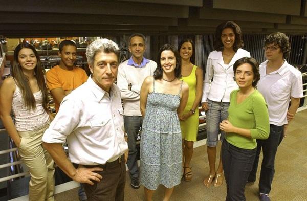 Caco Barcellos com jornalistas do Profissao reporter. (Pedro Paulo Figueiredo/Carta Z Notícias)