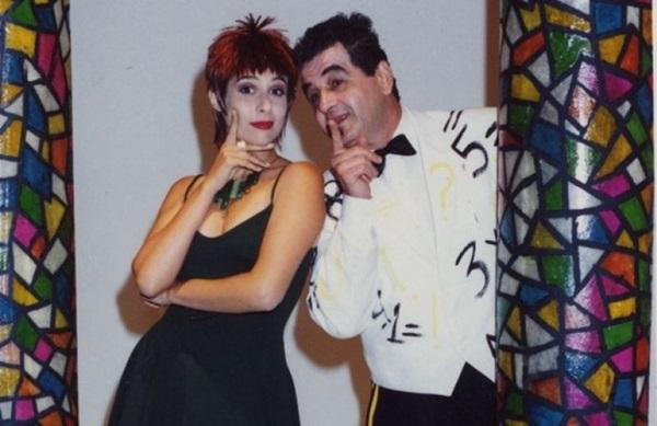 Andréia Beltrão e Otávio Augusto contracenavam em esquetes inspiradas nos quadrinhos (TV Globo/Reprodução)
