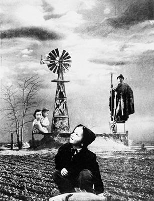 A obra Entardecer no Planalto é uma das expostas em Athos em preto e branco (Reprodução)