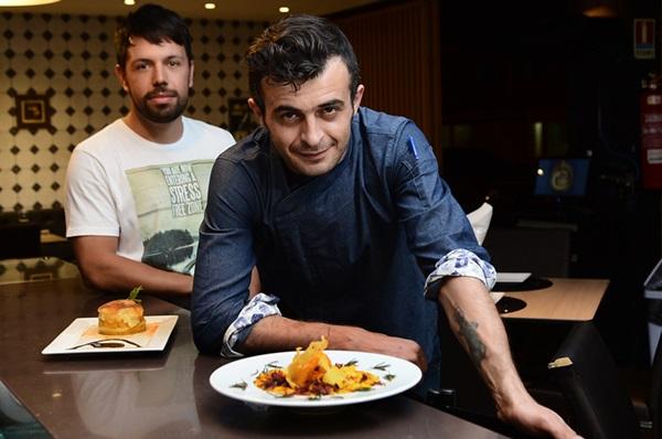 A dupla de sócios Thales Cipriano e Guy Peixoto resolveu apostar em uma mistura, da tradicional culinária brasileira (Marcelo Ferreira/CB/D.A Press)