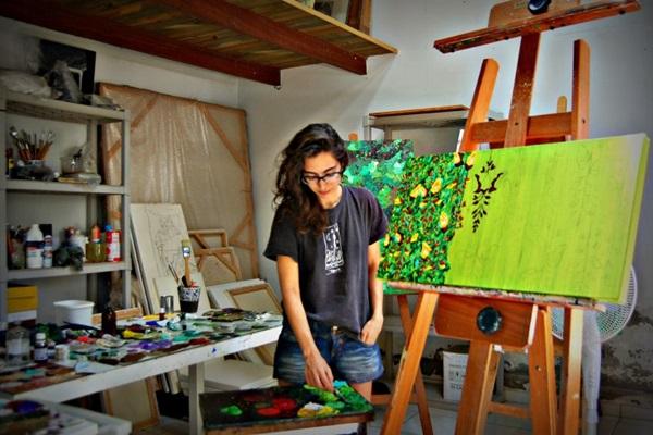 Carolina Vecchio teve a ideia dos quadros após ouvir um urutau  (Carolina Vechio/Divulgação )