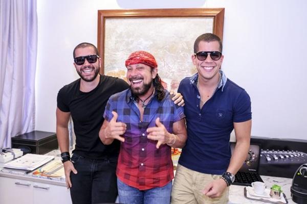 Rafa, Bell e Pipo Marques: alegria musical está no DNA (Fabio Cunha/Divulgação)
