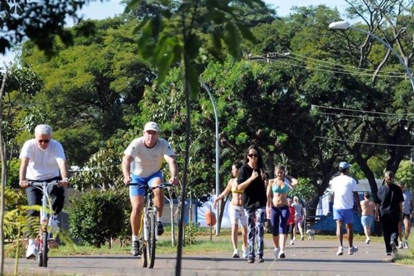 O Parque da Cidade é uma opção para quem se sente preso em uma academia