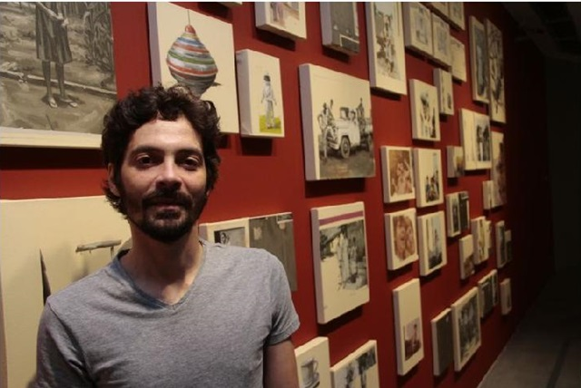 Fabio Baroli, com a exposição Deitei para repousar e ele mexeu comigo no CCBB até segunda-feira (11) (Ana Rayssa/Esp.CB/D.A.Press)