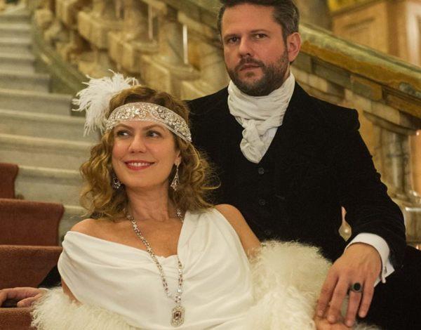 Patrícia Pillar e Selton Mello como Isabel D´Ávila de Alencar e Augusto de Valmont, em Ligações Perigosas (Caiuá Franco/TV Globo)