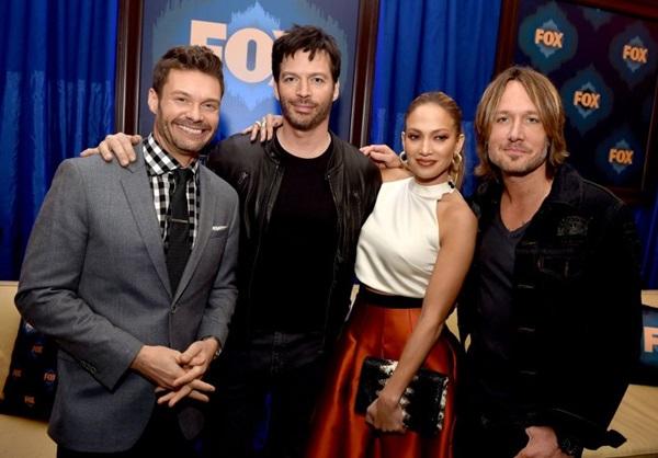 Na última temporada, Ryan Seacrest, Keith Urban, Jennifer Lopez e Harry Connick Jr. irão procurar o novo ídolo americano (KEVIN WINTER)
