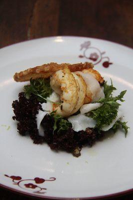 O polvo é uma das alternativas do menu degustação do Grand Cru  (Ana Rayssa/Esp. CB/D.A. Press.)