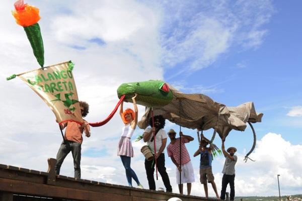 O bloco Calango Careta é uma opção de festa para a família inteira  (Carlos Moura/CB/D.A Press)