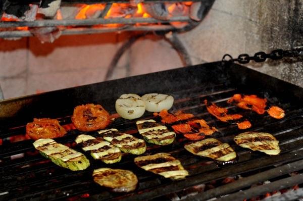 Mix de legumes na brasa do Restaurante Parrilla da 413 Sul (Antonio Cunha/CB/D.A Press. Brasil)