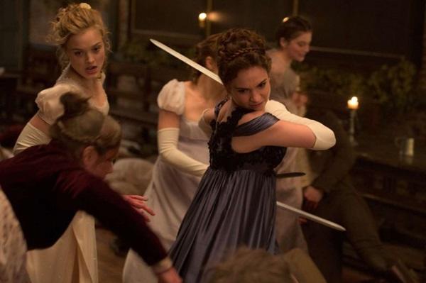 Elizabeth Bennet e suas irmãs foram criadas para serem guerreiras e combater os zumbis (Sony Pictures/Divulgação)