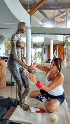 Loreni Schenkel: 'O importante, para o artista, é permitir a busca de novos materiais e o que vai acontecer entre eles' (Renata Coli/Divulgaçao.)
