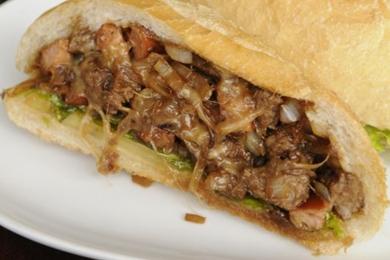 Estadão é o sanduíche de pernil servido no Sapori Paulista (Bruno Peres/CB/D.A Press)