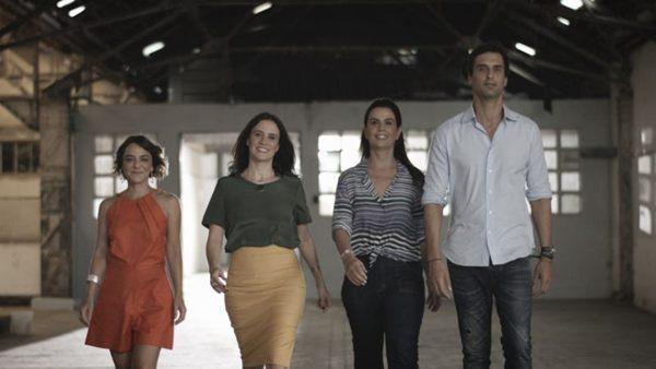 Nos novos episódios do Olho mágico, Renata Bartolomeu, Leila Bittencourt, Carol Wambier e  Alexandre Gedeon (GNT/Divulgação)