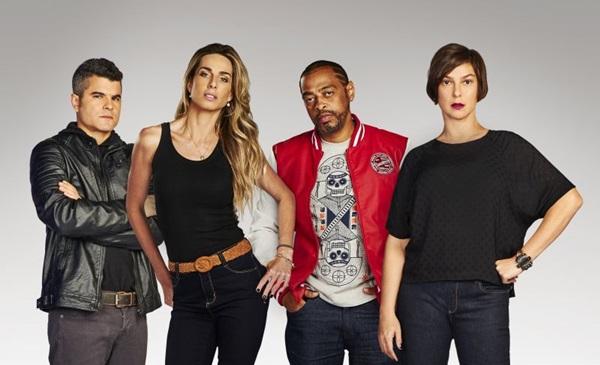 Guga Noblat, Mariana Weickert, Thaide e Maria Paula são a equipe da sexta edição de 'A liga' (Band/Divulgação)