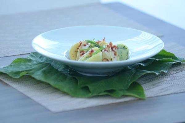 Conchiglione ao molho de taioba e queijo: inspiração italiana (Jhonatan Vieira/Esp. CB/D.A Press)