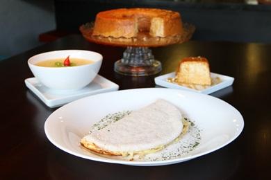 A tapioca é uma aposta versátil do chef André Carvalho, do Rapport Cafés Especiais e Bistrô (Rodrigo Nunes/Esp. CB/D.A Press)