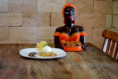 O pé-de-moça vem em uma versão cremosa e acompanhado de sorvete de queijo coalho na sobremesa do Bem Arretado (Jhonatan Vieira/Esp. CB/D.A Press)