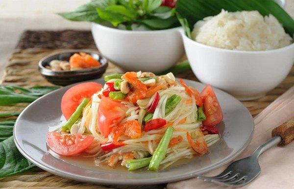 Salada de Papaia Verde