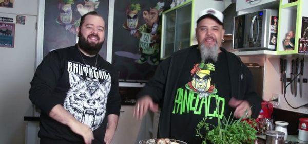 Filipe Nascimento e João Gordo fizeram um mix de cogumelos e conversaram sobre microssobrevivência (Reprodução/YouTube)