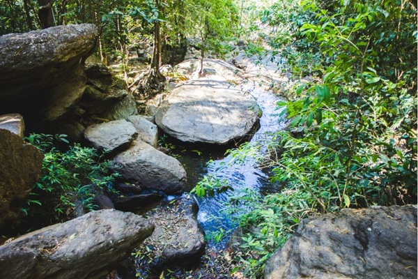 A Cachoeira do Girassol conta com atividades para adultos e crianças (Victor Hugo de Queiroz/Divulgação)