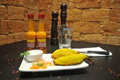 A pimenta  empanada na farinha de rosca recheada com queijo e carne moída é uma das alternativas do Sarará (Helio Montferre/Esp. CB/D.A Press)