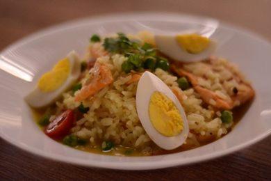 Arroz kedgeree: salmão integra a versão do restaurante indiano Bhõjana (Jhonatan Vieira/Esp. CB/D.A Press)