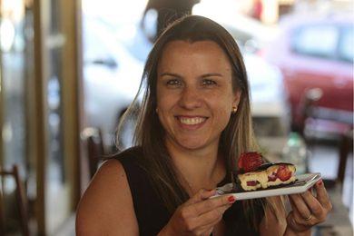 O morango e o chocolate aparecem juntos e separados na Sabor Glacê (Ana Rayssa/Esp. CB/D.A Press)