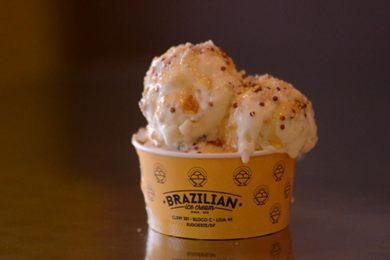 Mel adoça o novo sabor da Brazilian Ice Cream (Jhonatan Vieira/Esp. CB/D.A Press)